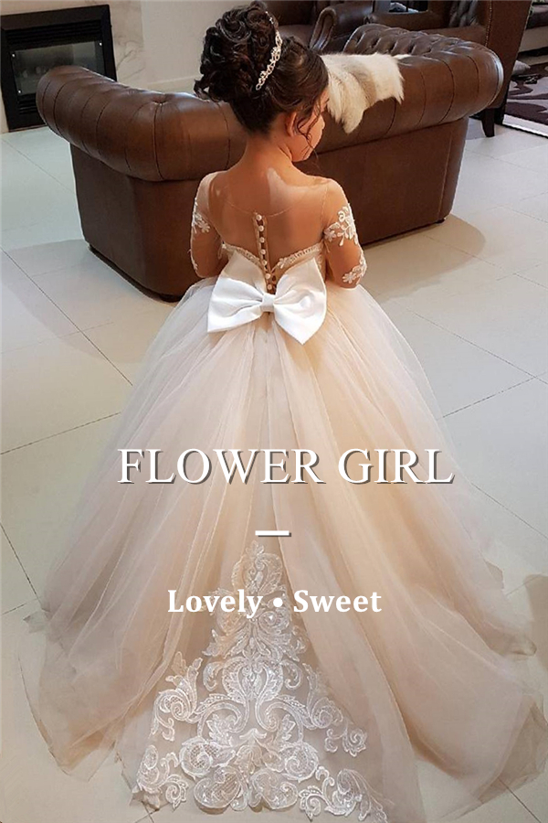 Shop flower girls dresses at Suzhoufashion