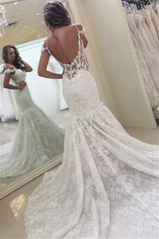 2020 Modern Lace Mermaid Wedding Dress Off The Shoulder Open Back Bridal Gowns Suzhoufashion,Dresses For Wedding Mother Of Groom