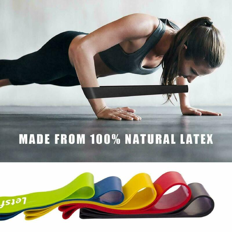 5 PCS Per Set with Bag Elastic Yoga Stripes Rubber Resistance Gym Equipment Exercise Band Workout Pull Rope