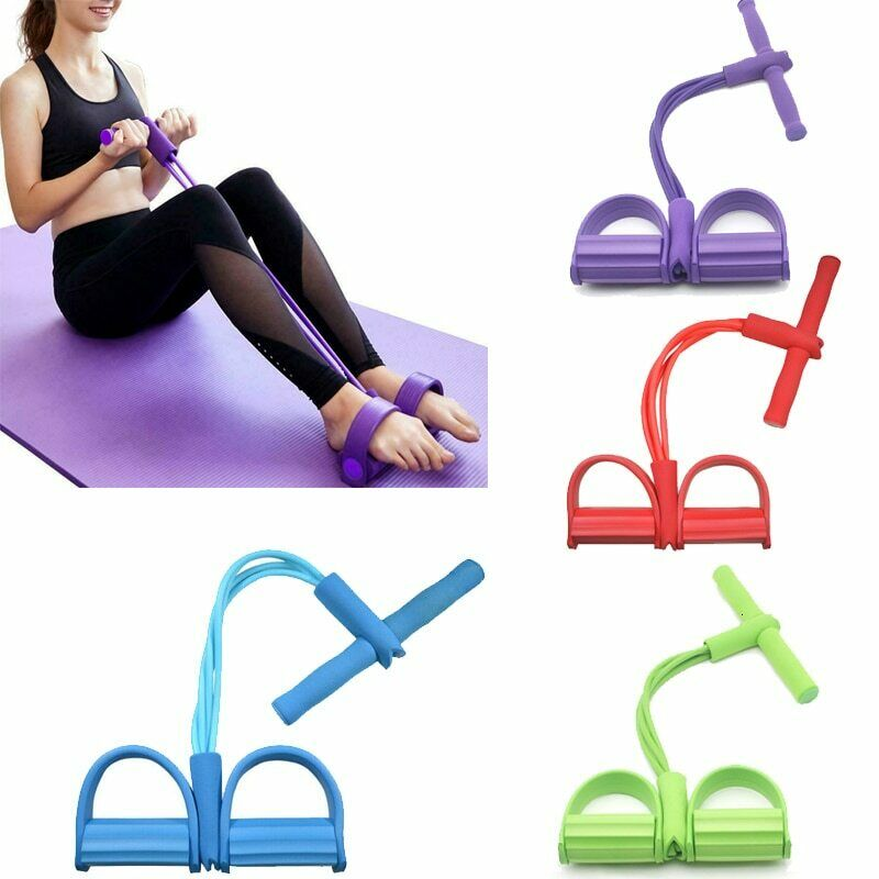 Fitness Resistance Bands Sit Up Pull Rope Expander Elastic Bands Yoga Equipment Pilates Workout Tool