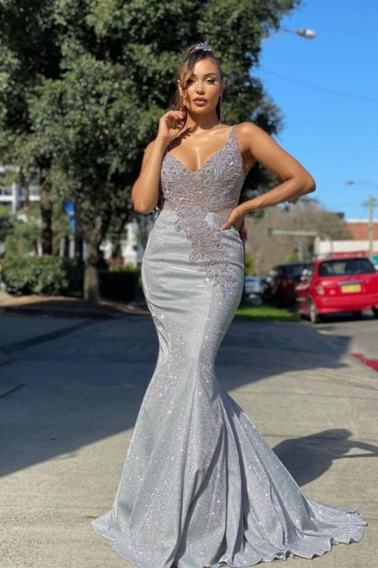 Sparkly Sequined Mermaidl Straps Prom Dress Online
