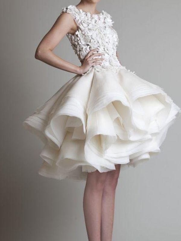 Asymmetrical A-Line Wedding Dress Jewel Sleeveless Country Plus Size Bridal Gowns On Sale