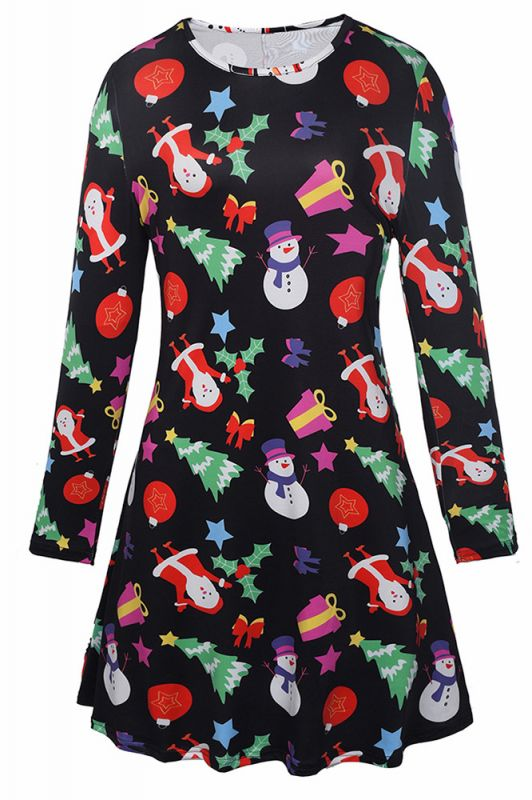 Chic Long Sleeve Christmas Dress SD1018
