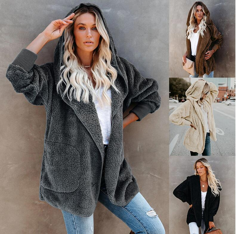 Fashion Solid Color Long Sleeve Outerwear