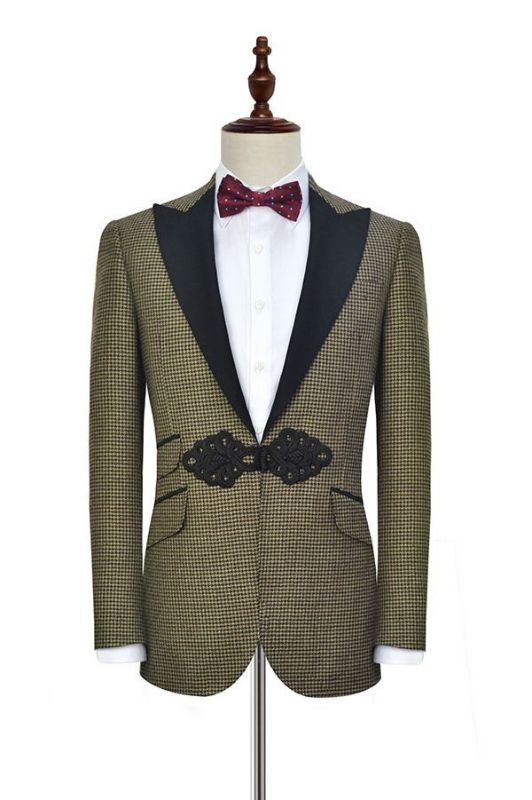 High Quality Peak Lapel Bespoke Mens Suits 2020 | Custom Made Mens Business Suits Online Cheap