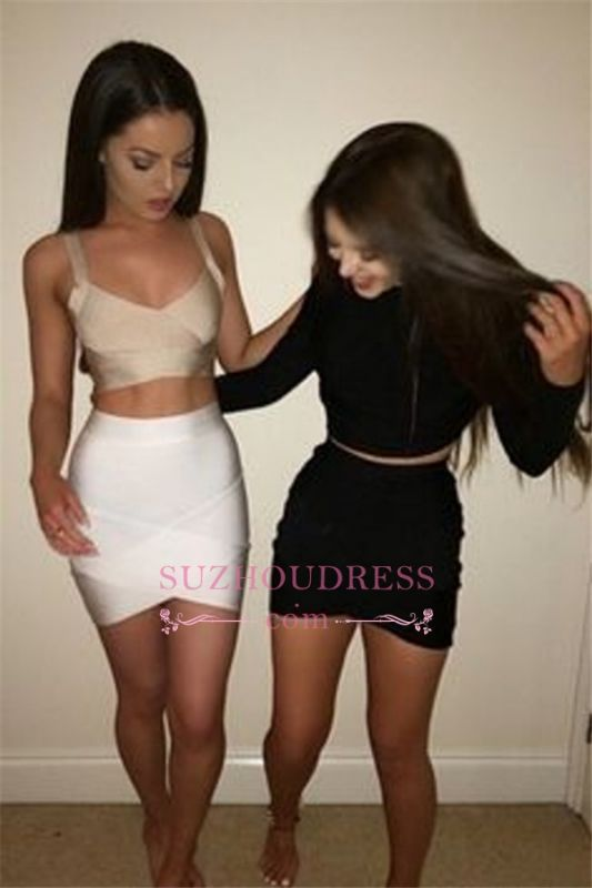 Gorgeous Two-Pieces Sheath Short Cocktail Dresses
