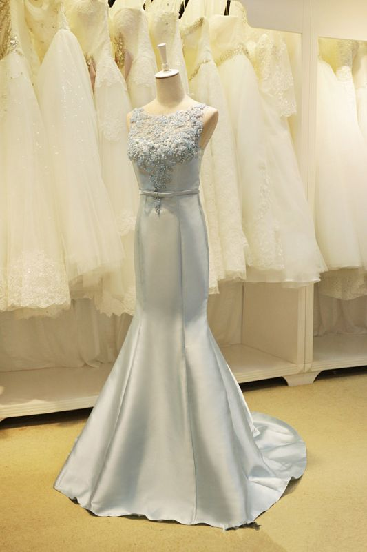 Elegant Lace Mermaid Prom Dress with Beadings New Arrival Bowknot Zipper Formal Occasion Dress