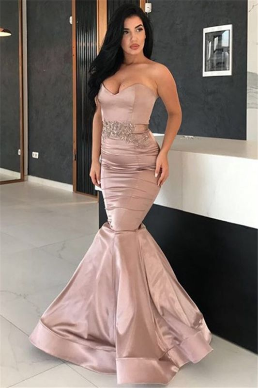 2020 Sexy Mermaid Long Evening Dresses | Sweetheart Appliques Cheap Evening Gown