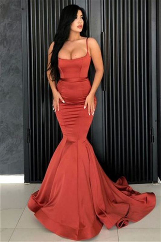 Sexy Mermaid Spaghetti Straps Evening Dresses Cheap | 2020 Long Simple Evening Gowns Online