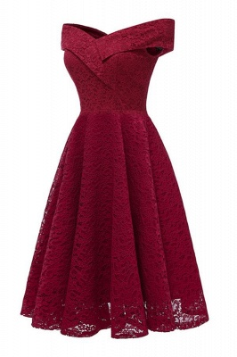 Graceful Sleeveless Ruby Lace Appliques A-Line Prom Dresses