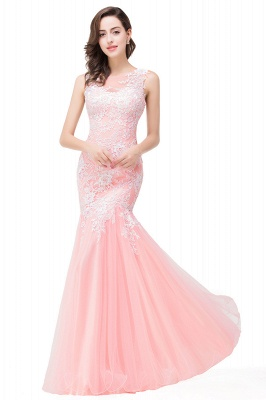 Long Lace Mermaid Sleeveless Maxi Prom Dress On Sale_13