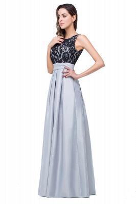 Simple A-line Crew Chiffon Open Back Lace Bridesmaid Dress On Sale_6