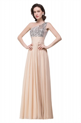 A-line Floor-length Chiffon Evening Dress with Sequined On Sale_5