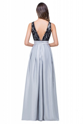 Simple A-line Crew Chiffon Open Back Lace Bridesmaid Dress On Sale_3