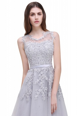Women's Sheer Neck Lace Appliques Short Prom Homecoming Dress On Sale_14