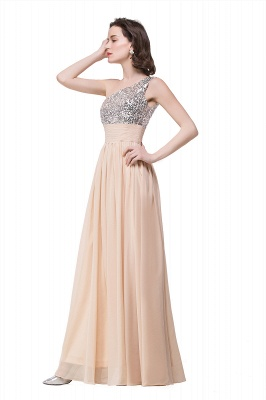 A-line Floor-length Chiffon Evening Dress with Sequined On Sale_6