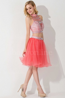 Sexy Crystal Beads Tulle Sleeveless Two-piece Short Prom Dress On Sale_16