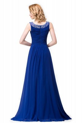 Chiffon A-line Sexy Sparkly Crystal Long Prom Evening Dress On Sale_5