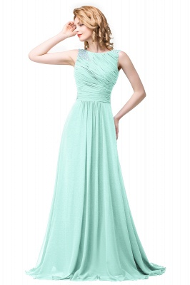 Chiffon A-line Sexy Sparkly Crystal Long Prom Evening Dress On Sale_3