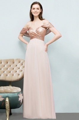 A-line Sweetheart Off-shoulder Spaghetti Long Sequins Chiffon Prom Dress On Sale_5