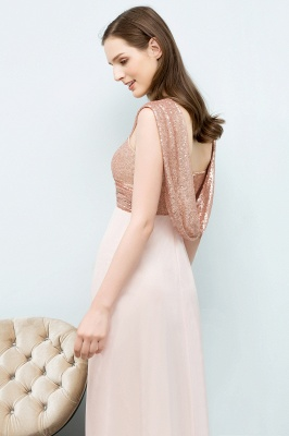 A-line Sweetheart Off-shoulder Spaghetti Long Sequins Chiffon Prom Dress On Sale_7