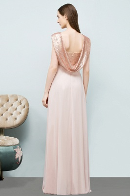 A-line Sweetheart Off-shoulder Spaghetti Long Sequins Chiffon Prom Dress On Sale_3