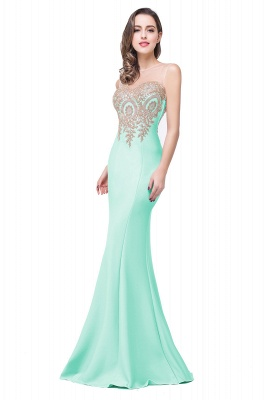 Women's Rhinestone Appliques Sheer Maxi Long Evening Prom Party Dress On Sale_18