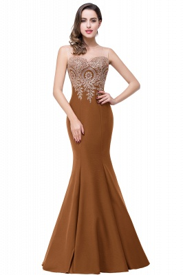 Women's Rhinestone Appliques Sheer Maxi Long Evening Prom Party Dress On Sale_7