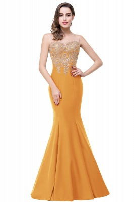 Women's Rhinestone Appliques Sheer Maxi Long Evening Prom Party Dress On Sale_8