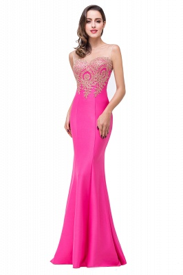 Women's Rhinestone Appliques Sheer Maxi Long Evening Prom Party Dress On Sale_5