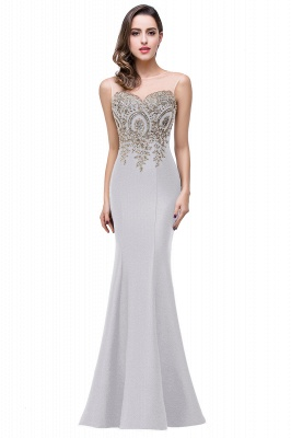 Women's Rhinestone Appliques Sheer Maxi Long Evening Prom Party Dress On Sale_15