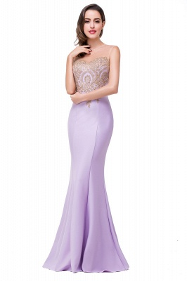 Women's Rhinestone Appliques Sheer Maxi Long Evening Prom Party Dress On Sale_10