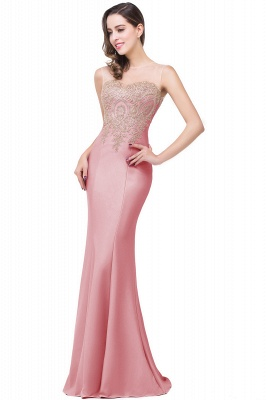 Women's Rhinestone Appliques Sheer Maxi Long Evening Prom Party Dress On Sale_3