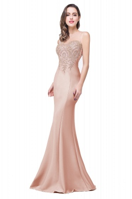 Women's Rhinestone Appliques Sheer Maxi Long Evening Prom Party Dress On Sale_2