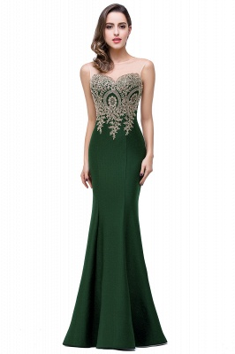 Women's Rhinestone Appliques Sheer Maxi Long Evening Prom Party Dress On Sale_16