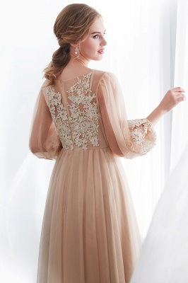Gorgeous Long Sleeve Tulle Prom Dress | Long Evening Party Gowns With Appliques_9