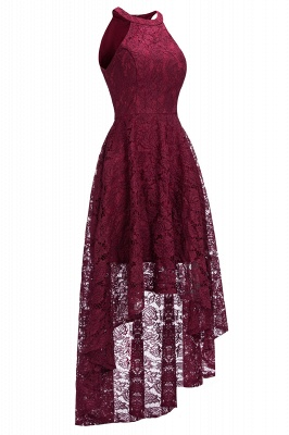 Halter Burgundy Lace Christmas Dress CPS1151_2