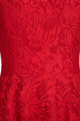 Red Lace Hi-Lo Christmas Party Dress CPS1149_6