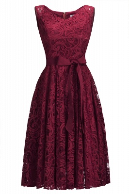 Sleeveless Burgundy Lace Mini Party Dress On Sale CPS1147