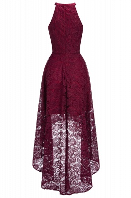 Halter Burgundy Lace Christmas Dress CPS1151