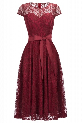 Illussion Sexy Burgundy Lace Party Dress Online CPS1152