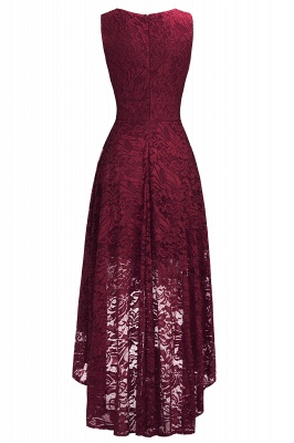 Red Lace Hi-Lo Christmas Party Dress CPS1149_8