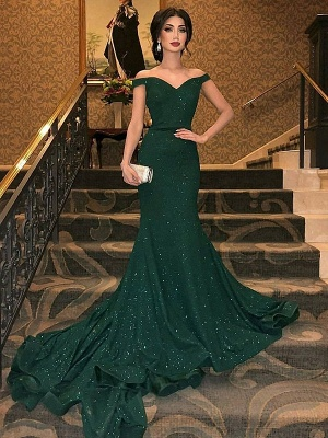 Sexy Sequins Sweetheart Evening Dresses Long | 2020 Side-Slit Mermaid Prom Dresses_1