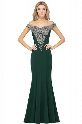 Elegant Off-the-Shoulder Mermaid Prom Dress Long With Lace Appliques_8