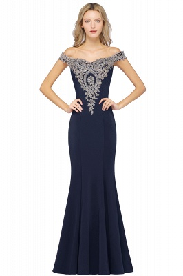 Elegant Off-the-Shoulder Mermaid Prom Dress Long With Lace Appliques_6