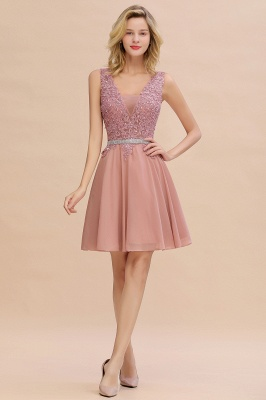 Lovely Sleeveless Short Prom Dress   Mini Homecoming Dress With Appliques_1