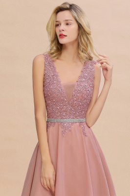 Lovely Sleeveless Short Prom Dress   Mini Homecoming Dress With Appliques_14