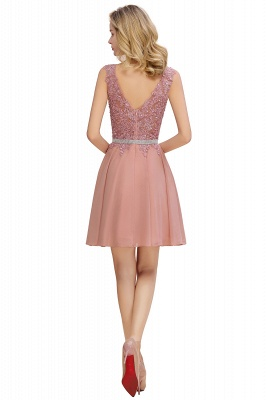 Lovely Sleeveless Short Prom Dress   Mini Homecoming Dress With Appliques_8