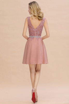 Lovely Sleeveless Short Prom Dress   Mini Homecoming Dress With Appliques_15
