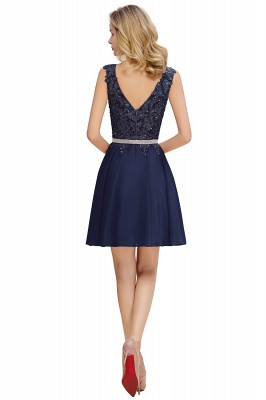 Lovely Sleeveless Short Prom Dress   Mini Homecoming Dress With Appliques_6